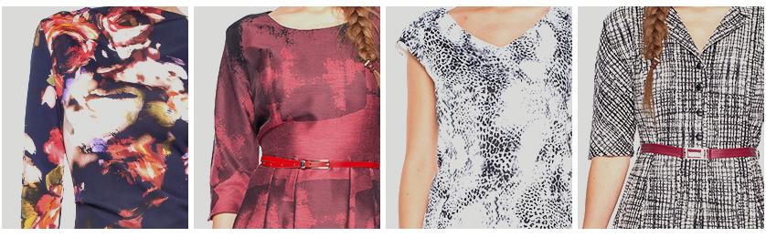 Wzorzyste sukienki