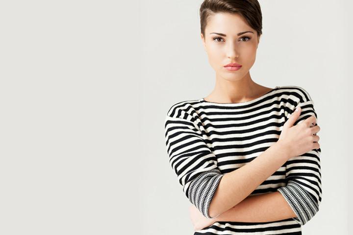 Ponadczasowe bluzki w paski