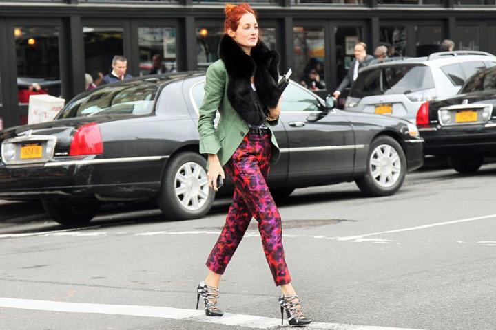 Kolorowe spodnie damskie