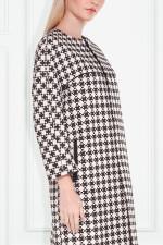 Czarno-biały płaszcz we wzór – Patrizia Aryton