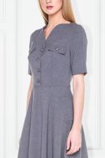 Szara sukienka w stylu lat 50-tych – Modesta