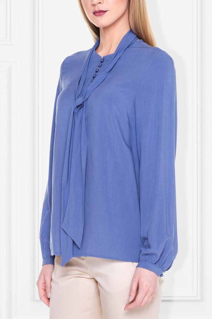 Niebieska bluzka z wiązaniem – Duet Woman