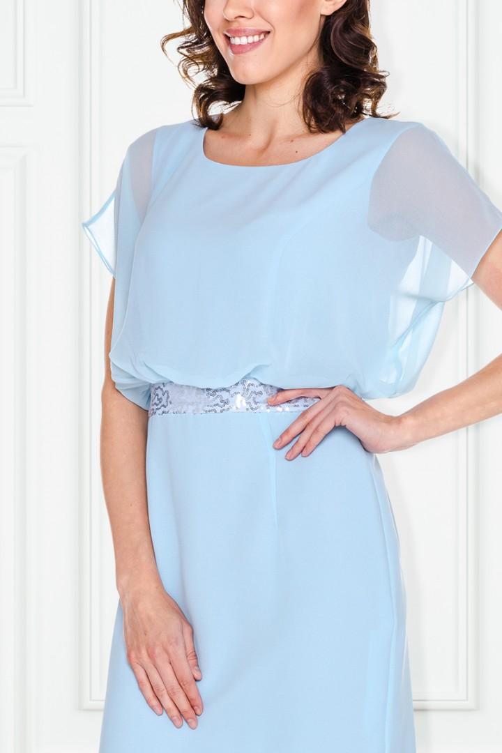 Błękitna sukienka z cekinami - L'ame de femme