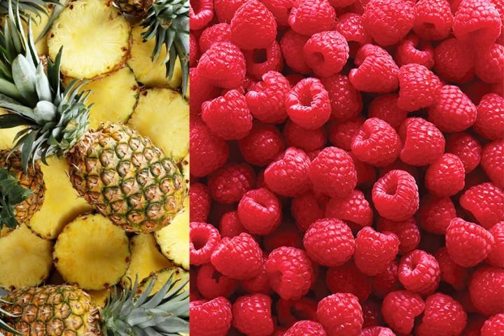 Owoce w diecie i owocowe kolory w szafie