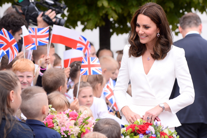 Stylizacje księżnej Kate podczas wizyty w Polsce