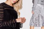 Bluzki i spódnice z aksamitnym połyskiem