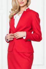 Czerwony żakiet w tłoczony wzór – Sobora
