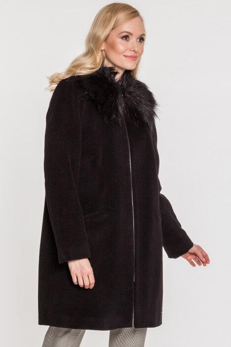 Zimowe wełniane płaszcze