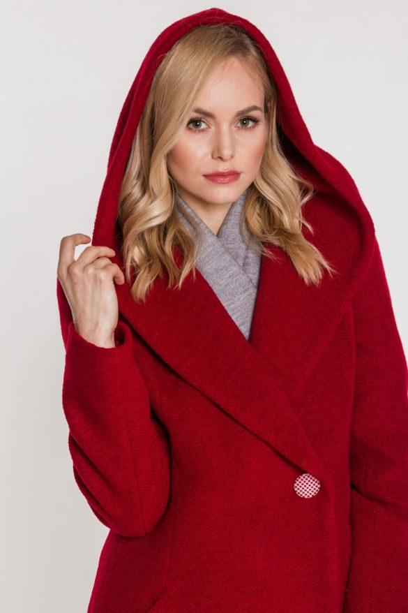 Płaszcz zimowy z kapturem
