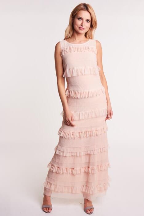 Pastelowa sukienka na wesele
