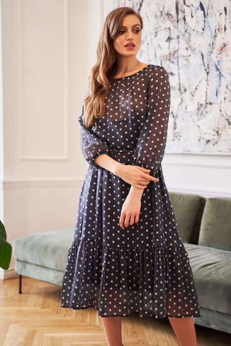 Wzorzyste sukienki na co dzień i do pracy